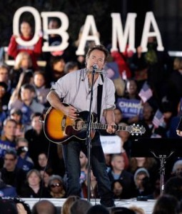 Bruce Springsteen Campaigning for Barack Obama