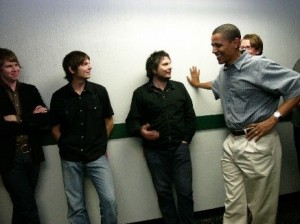 Wilco, with President Obama for scale.
